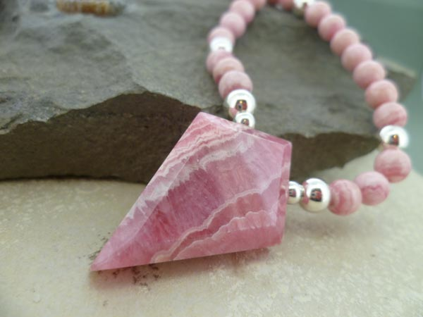 Rhodochrosite Necklace Set
